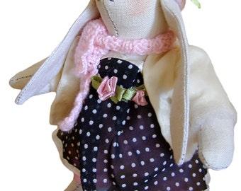 Tilda Bunny Rabbit Girl Plush Toy   Customized Stuffed Animal