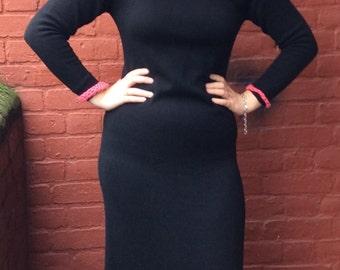 john laing vintage 70s cashmere maxi dress