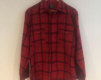 Pendleton Wool Plaid Shirt // 100% Virgin Wool