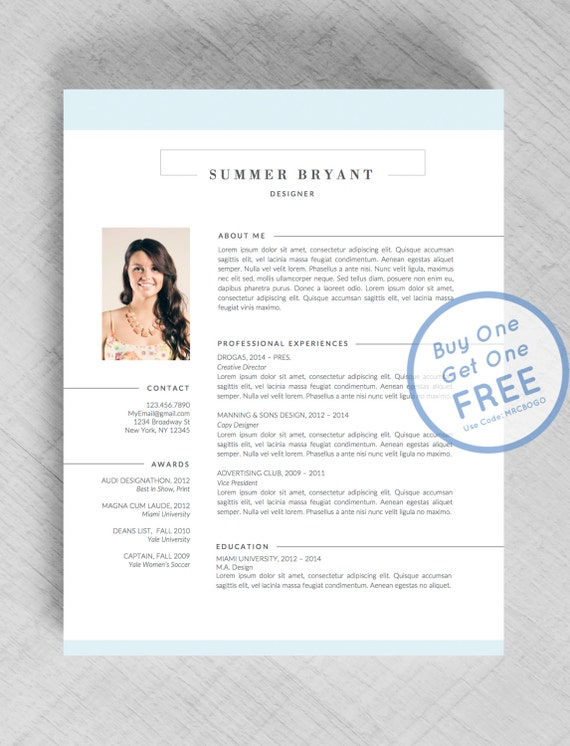professional resume template cv template cover by