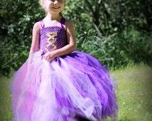 Rapunzel princess dress,Rapunzel costume,Princess gown,Floor length,Rapunzel dress,Purple tulle dress,Disney Princess dress,Princess costume