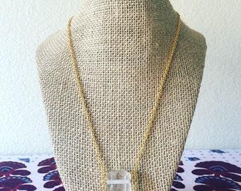 Hanging Quartz Necklace