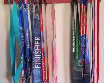 """Handmade Running Medal Hanger/Holder/Display """"I RUN 'Ohio'"""""""