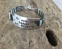 Hand Stamped French Personalised Message Bracelet Je Suis Une Maman Qui Déchire