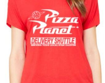 Disney Shirts Ladies Slouchy Tee Pizza Planet Shirt Toy Story Shirt Disneyland Shirt Disney World Shirt Disney Cruise Shirt