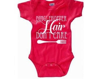 Disney Baby Shirt Dinglehopper Hair Don't Care Shirt Disneyland Shirt Disney World Shirt Magic Kingdom Shirt