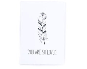 A4 Nursery Print | You Are So Loved | 300gsm Cardstock