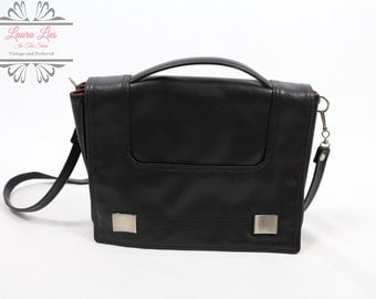 Vintage Black Cross Body Satchel
