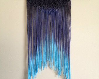 Black and Teal Ombre Wall Hanging