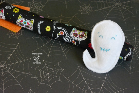 Day of the Dead Kicker and Ghost Cat Toy Duo
