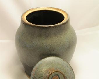 Matte Grey Stoneware Jar