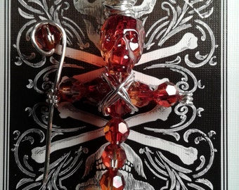 Crystal Red Magma Voodoo Doll Swarovski