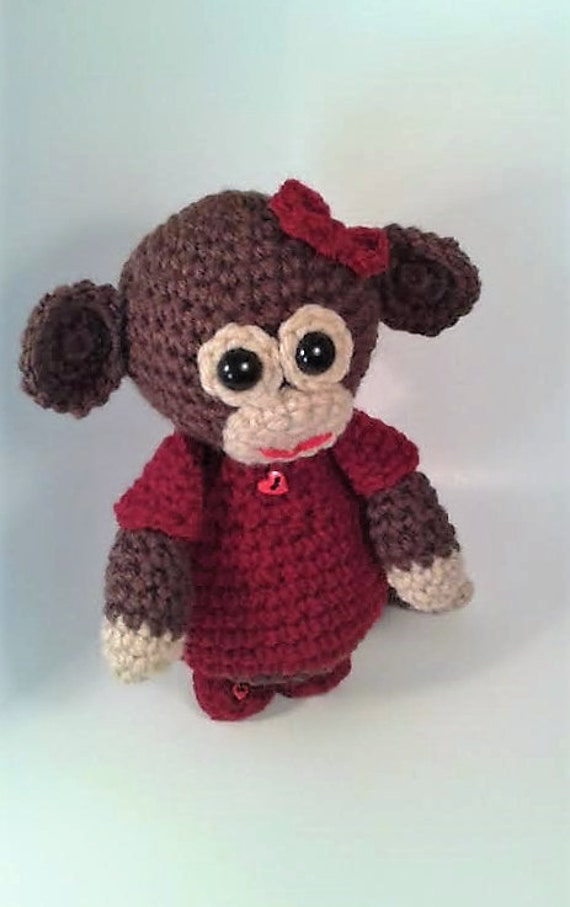 Amigurumi Stuffing : Crochet Monkey Amigurumi Stuffed Animal by MizJenniesCrochet