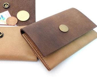 Leather wallet purse leather Geldbörse letter bag money bag