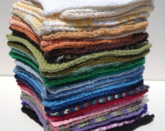 Hand knitted set of washcloths!