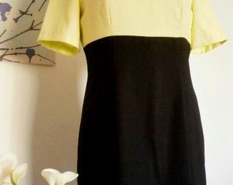 SALE 25% OFF: Colour block Vintage dress by Cristian Lay small size / colour blocking