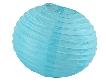 10 inch/25cm Light Blue Paper Lantern for Weddings, Engagements, Parties, Celebrations etc