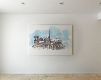 Notre Dame Cathedral - Canvas decor