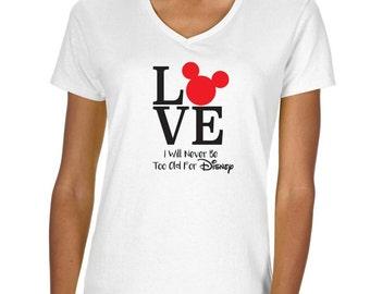 Disney Love Vneck Tshirt