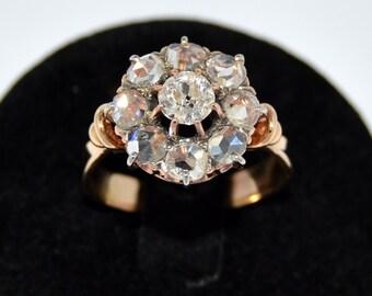 Antique Victorian Gold European Cut Diamond Ring Ring Victorian diamond 18 k gold