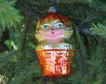 Cat lover gifts Vintage christmas Decoration orange Christmas figurine kitten ornament rare Christmas ornament cat ornament pets ornaments