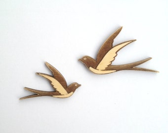Awesome laser cut BIRD wood shapes /  Laser cut wood / Wood bird / Bird decor / Bird art / Nature decor / Birds / Flying bird / Wood charms