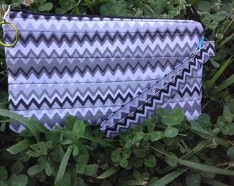 Quilted Chevron Wristlet