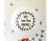 Bachelorette Party Balloons Set of 5 - Same Penis Forever Balloons - Bachelorette Decor -  Bachelorette Party Ideas