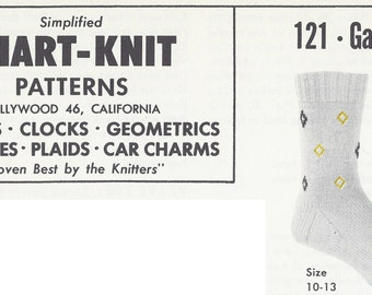 Chart-Knit Sock Pattern 121-Galaxy