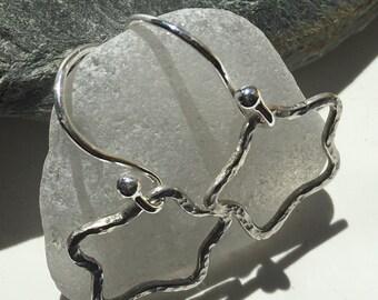 Sterling Silver Earrings, Star Earrings