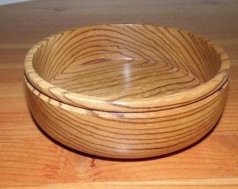 Tigerwood bowl, Handturned, One of a Kind