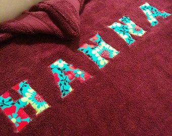 Hooded Custom Towel for Infants Babies Toddlers and Kids
