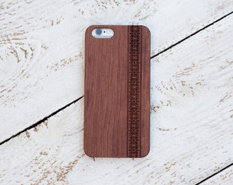 Wood Case, iPhone 8, iPhone X, 7, 7 Plus, 6s, 6 6 Plus, 5s, 5, SE, Samsung Galaxy S8, S7, S6, Cover, Engraved #4019