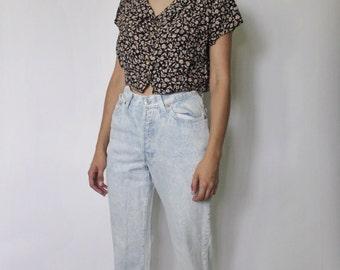 SALE Vintage Levis 501 Denim Jeans | Levi's 501 High Waist Denim Jeans | Levis Acid Wash Jeans | sz 24