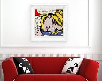 Art Print - Roy Lichtenstein, 'That's the Way It Should Have Begun! But It's Hopeless!' (1968)