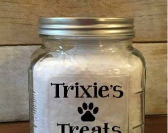 Custom/Personalized Pet Treat Container