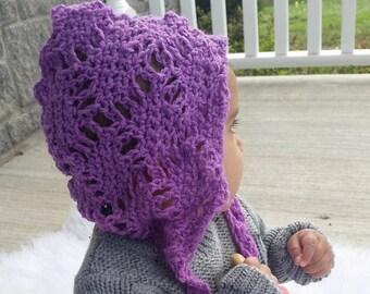 Sale | Baby Bonnet | Trendy Baby | Winter Baby Shower Gift | Cotton Ribbed Pixie Bonnet | Newborn Bonnet | Crochet Bonnet | Baby Hat | Gift