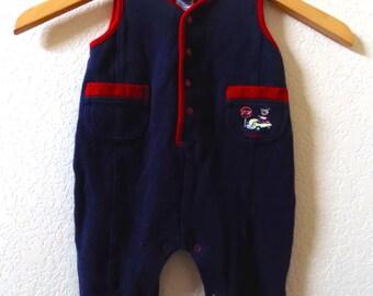 Baby OshKosh B'Gosh 90s Vintage Sleeveless Romper, Baby Boy, Size 3-6 Months