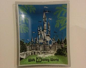 Vintage Walt Disney World Glass Ashtray