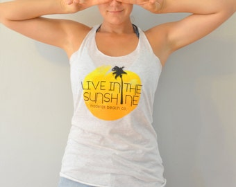 Live In The Sunshine Sunset Surf Tank Top
