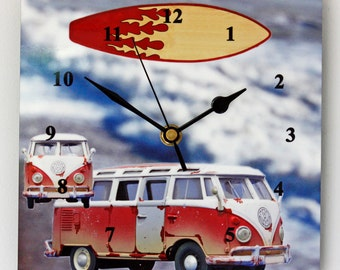 VW Surfer Van - Square Wall Clock