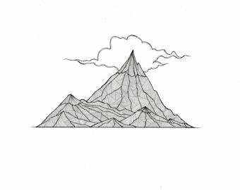 Misty Mountain A4 Print