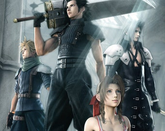 Crisis Core: Final Fantasy VII Aerith Zack Sephiroth Cloud Poster