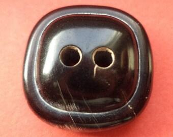 Horn button buttons 10 HORN button dark brown-22 mm (5211)