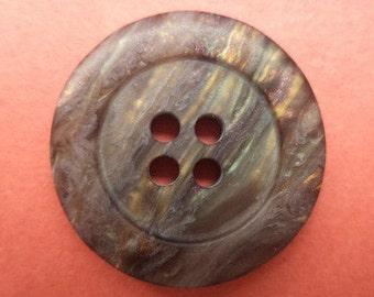 11 dark brown buttons 21mm (6621) button Brown