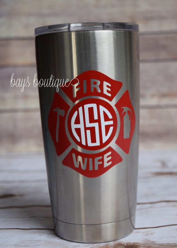 fire wife fire wife decal firefighter decal yeti decal for