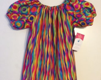 Peasant Style Dress (Girls Size 6) - Ready to Ship