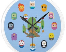 Adventure Time Clock Cross Stitch Pattern (PDF Download)