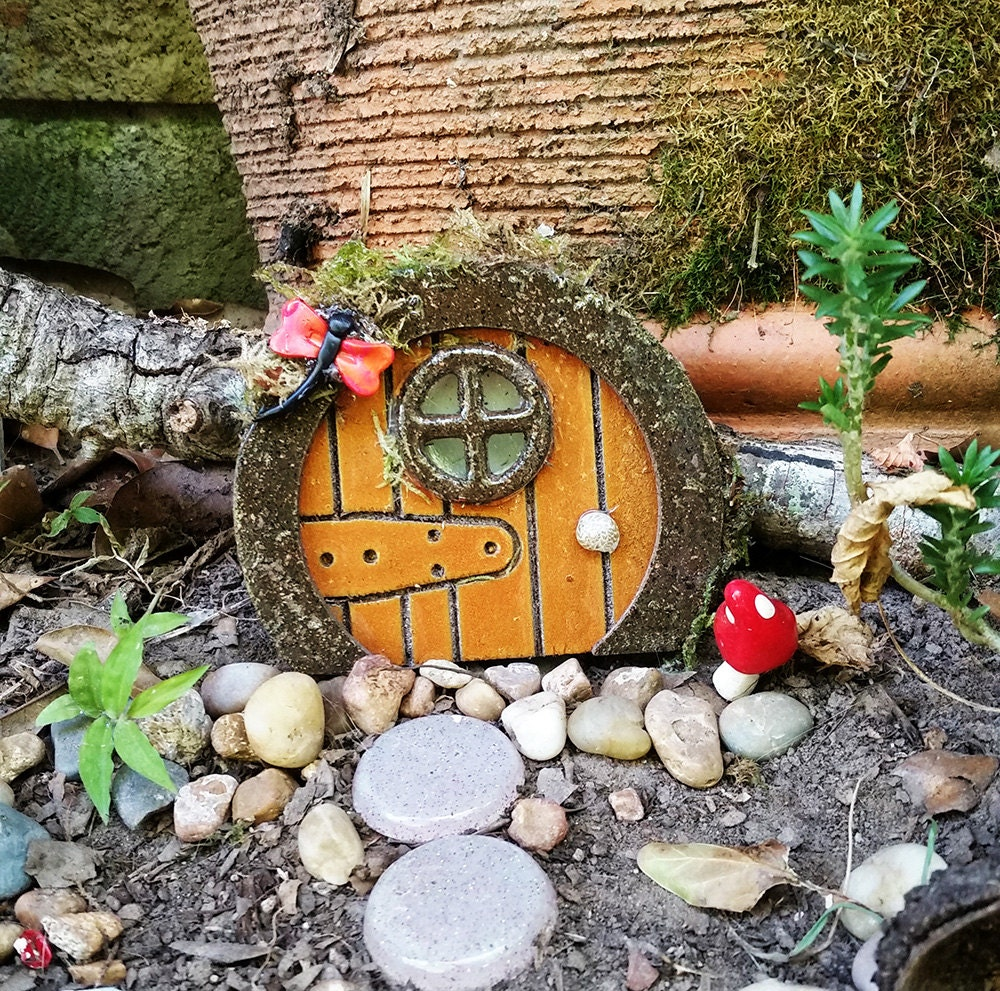 Fairy door gnome door fairy garden accessory fairy garden for Outdoor fairy door