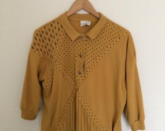 mustard patterned sweater